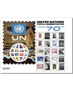 2021 UNPA 70th Anniversary Personalized Sheet