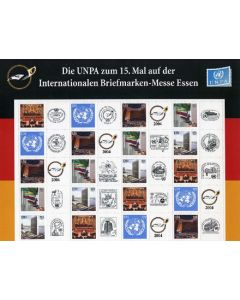 853-857 Personalized Sheet - Essen Stamp Show