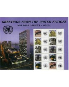 903-907 Greetings from the UN Personalized Sheet (S11)