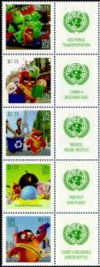 1131 Angry Birds Strip of 5