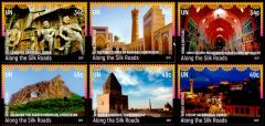 1171 a-f Silk Roads Booklet Singles