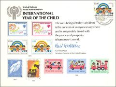 UN15 Souvenir Card FDC - Geneva