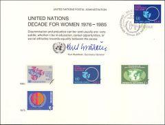 UN17 Souvenir Card FDC - Geneva