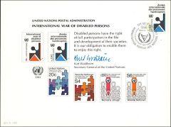 UN19 Souvenir Card FDC - Geneva
