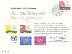 UN20 Souvenir Card FDC - Geneva