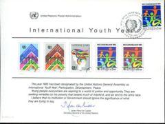 UN26 Souvenir Card FDC - Vienna