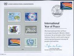 UN30 Souvenir Card FDC - Vienna
