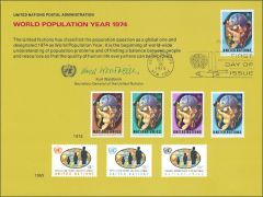 UN6 Souvenir Card FDC - NY