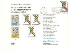 UN9 Souvenir Card FDC - NY
