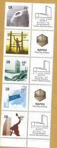 987-91 NAPEX Personalized Stamps Strip of 5