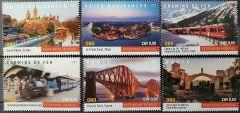 2021 WATER-RAIL-BRIDGES BOOKLET SINGLES - GEN