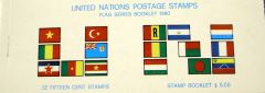 32 15 cent flag stamps in numbered booklet