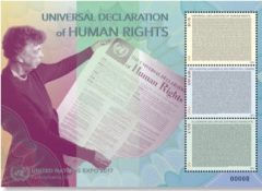 1177 UNEXPO 17 Human Rights Miniature Sheet