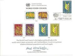UN10 Souvenir Card FDC - NY