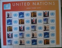954-958 Personalized Sheet - United Nations 2008 (S23)