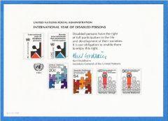 UN 19 Souvenir Card