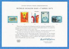 UN 1 Souvenir Card - FDC