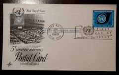 UX4 5c Postal Card FDC