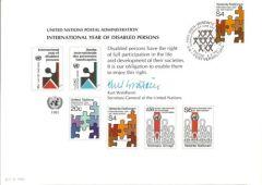 UN19 Souvenir Card FDC - Vienna