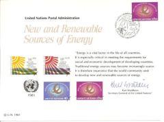 UN20 Souvenir Card FDC - Vienna